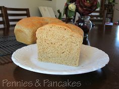 Pennies & Pancakes: Best Wheat Bread. For my dark pans I baked it at 325 for 35-40 min.
