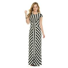 Indication by eci striped pleated maxi dress