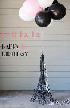 Paris Themed 1st Birthday Party.....ooh la la, Joslyn