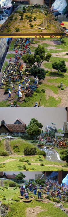 Medieval Battle Royale III - Follow the link! Wargaming Table, Wargaming Terrain, Christmas Crib Ideas, Miniature Wargames, Mother Courage, Lead Adventure, Army Base, Game Terrain, Wars Of The Roses