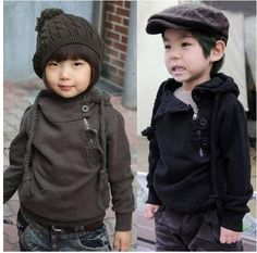 Korean Children Clothing Best Quality Dashing Inclined Zipper Boys Girls Hoodies Coat 3-7Y Baby Kids Sweatshirt Topwear Retail