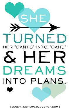 """She Turned Her """"Cant's"""" Into """"Cans"""" & Her Dreams into Plans! #upliftingphilosophy @philosophy skin care"""