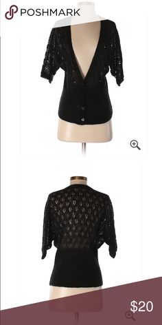🆕 LOFT Black Crocket Back Cardigan NWT Small ☀️ Brand new with tags! Thank you for looking! LOFT Sweaters Cardigans