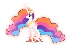 Princess celestia rainbow power by xebck on DeviantArt