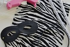 DIY Halloween Costume // Zebra (How-to) & Childrens Zebra Face Masks Party Loot Bag Toy Wild Animal Jungle ...