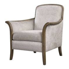 Uttermost Brittoney Taupe Armchair ❤ liked on Polyvore featuring home, furniture, chairs, accent chairs, taupe accent chair and mocha chair