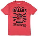 Dr. Who - Vote No On Daleks T-Shirts