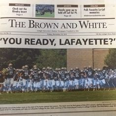 A sneak preview of tomorrow's Lehigh-Lafayette color issue - Get your copy at a newsstand around campus!