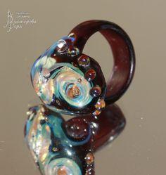 Вихри на Юпитере. Стекло ручной работы от Веры Викторовой. Vortices on Jupiter. Handmade glass by Vera Viktorova