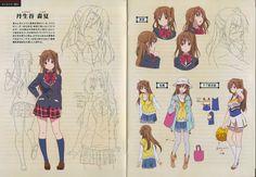 Tags: Scan, Official Art, Kyoto Animation, Chuunibyo Demo Koi ga Shitai!, Nibutani Shinka Moe Manga, Moe Anime, Female Characters, Anime Characters, Manga Tutorial, Kyoto Animation, Female Character Design, Character Sheet, How To Draw Hair