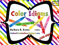 46 color idioms for use in multiple games, centers, and activities.  $  #CCSS #idioms