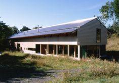 timber-frame new-build home + studio - Long Barn - Berwick St. James, Wiltshire, UK - Klaentschi + Klaentschi - 2001