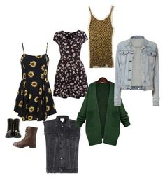 """Soft Grunge outfit #2"" by sydney-mocilan on Polyvore featuring Citizens of Humanity, WithChic, rag & bone, Charlotte Russe and Moncler"