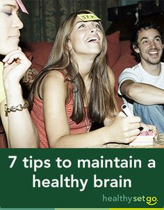 Seven tips to maintain a healthy brain - Sleep, proper nutrition and hydration, exercise and more all contribute to the health of your brain. Get these tips to help ward off dementia.: http://www.allinahealth.org/HealthySetGo/SingleArticle.aspx?id=36507232232&utm_source=Social%20Media&utm_medium=Pinterest&utm_term=Prevent&utm_content=Seven%20Tips%20To%20Maintain%20A%20Healthy%20Brain&utm_campaign=HSG