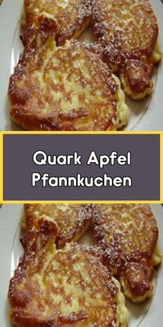 Quark Apfel Pfannkuchen - Eier und Mehlspeisen Rezepte - Quark Apfel Pfannkuchen Quark apple pancakes are so easy and yet they taste SENSATIONALLY good! They owe that to the curd, because it brings the absolute fluffiness into the cupcakes. Make Ahead French Toast, Vegan French Toast, Overnight French Toast, French Toast Bake, French Toast Casserole, Casserole Dishes, Casserole Recipes, Breakfast Recipes, Dinner Recipes