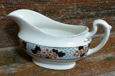 Vintage Bridgwood Semi Porcelain Gravy Boat in the Hawthorn Pattern, 1920's Bridgwood Dish, Vintage Serving Dish by EmptyNestVintage on Etsy