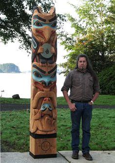 Tommy Joseph, local Tlingit carver in Sitka Alaska. http://tommy-joseph.blogspot.com