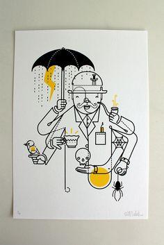 FreakShow Illustration Exhibition - Will Scobie