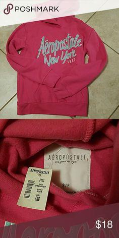 Aeropostale hoodie Brand new with tags. Pink Aeropostale hoodie. Size small Aeropostale Tops Sweatshirts & Hoodies