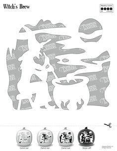 Pumpkin Masters carving tools and patterns are the perfect asset for carving novices and experts alike. To use this Witch's Brew pattern, click on the image and print the image that appears.