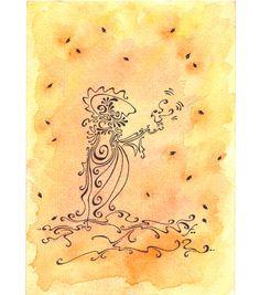 Dessin a la plume et aquarelle par TillyfoO ❤❤❤❤❤❤
