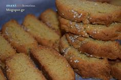 Greek Sweets, Eggplant Recipes, Breakfast Cookies, Healthy Cookies, Greek Recipes, Easy Cooking, Hot Dog Buns, Biscotti, French Toast