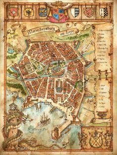 'Mariechensburg am Lynn' Map by FrancescaBaerald.deviantart.com on @DeviantArt