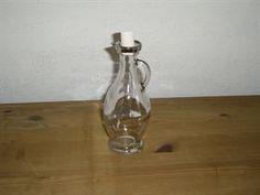 Karaffel med korkprop til eddike, essenser eller olie, lille, 250 ml