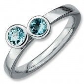 Sterling #Silver, Aquamarine #Diamond By Samuels Jewelers