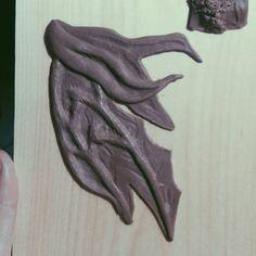 Au'ra Xaela scales are getting there! . . #prostheticsculpt #ffxiv #finalfantasycosplay #finalfantasyxiv #auraxaela #scales #wip #wipsculpt #sculpting #customorder