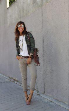 bff1e80f78 cargo pants and camo americana. Pantalones Cargo MujerVestido ...