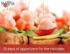 Shrimp Avocado Baguette Bites - Perfect for hosting in a hurry Easy Appetizer Recipes, Yummy Appetizers, Shrimp Recipes, Best Sandwich, Sandwich Recipes, Sushi Fillings, Holiday Recipes, Great Recipes, New Years Eve Food