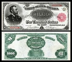 Large denominations of United States currency - Wikipedia Show Me The Money, How To Get Money, Old Coins Value, Rare Coins Worth Money, Money Notes, Gold Money, Coin Worth, Coin Values, Dollar Coin