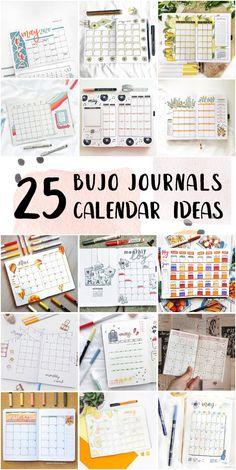 Best Bullet Journal Monthly Calendar Ideas Step By Step - Bullet Journal Theme #bulletjournaltitleideas #dottedbulletjournals #letteringbulletjournal