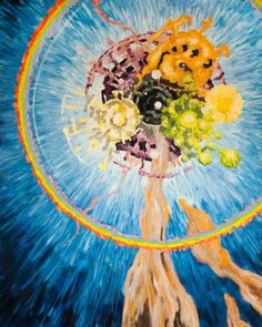 COSMIC SPRING original art cosmic principles by JakubJecminekArt