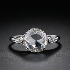 Vintage rose-cut diamond solitaire from the archives of Lang Antiques, circa 1900. How pretty.