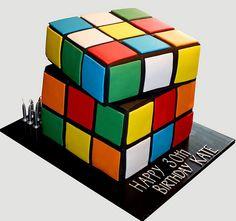 Rubix Cube Birthday Cake