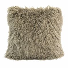 Bring a cozy touch to your décor with the HiEnd Accents Mongolian Faux Fur Pillow . Its faux fur design will deliver a soft nuance to your setting,. Grey Throw Blanket, Fur Throw Pillows, Faux Fur Throw, Throw Blankets, Accent Pillows, Grey Pillows, Accent Walls, Mongolian Fur Pillow, Taupe Color