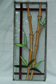 Bamboo in stained glass by David Hoot
