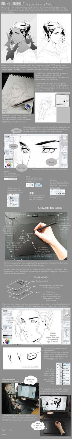 Inking Digitally - tips and tricks by Zombiesmile on DeviantArt