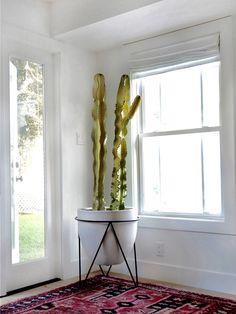 Happy cactus corner via: amberinteriordesign - well done