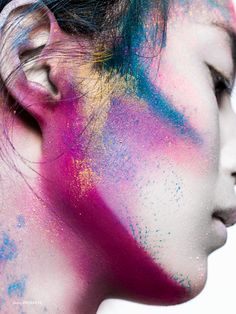 Powder & Paint - Photographed by Felicity Ingram Hair & Makeup Michael Gray @ David Artists