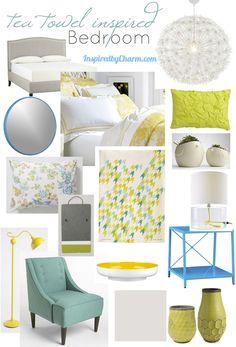 inspired by charm: A Tea Towel Inspired Bedroom via @Michael Wurm, Jr. {inspiredbycharm.com}