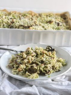 This Broccoli and Rice Casserole from Lauren Kelly Nutrition is packed with vitamins and minerals and is vegan, gluten free and dairy free!