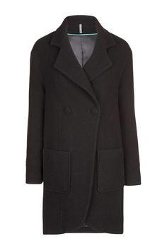 Manteau croisé à poches plaquées femme - Manteaux - femme - NAF NAF