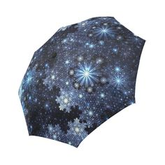 The magic & sparkle of snowflakes on a dark blue background. Christmas Themes, Christmas Gifts, Dark Blue Background, Snowflake Pattern, Umbrellas, Snowflakes, Party Supplies, I Shop, Sparkle