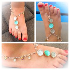 Little girls wear foot chains by L Design available at www.shopldesign.com