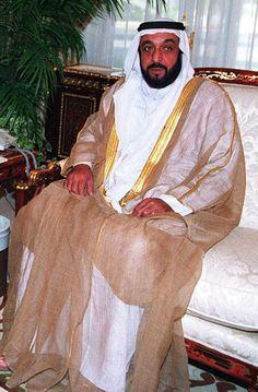 Sheikh Khalifa bin Zayed al Nahyan: born to Zayed's first wife Sheikha Hassa bint Mohammed bin Khalifa al Nahyan
