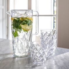 Koziol Krug Crystal in Grau - l - Schott Zwiesel, Market One, Own Home, Glass Vase, Crystals, Form, Home Decor, Products, Cold Drinks