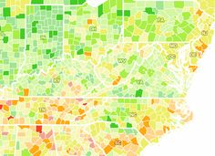 US Unemployment changes by county, along with how much money was spent per county / by development seed